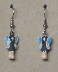 Hand Painted Fairy Earrings $8.00 by tribeofthefaefolk on Etsy