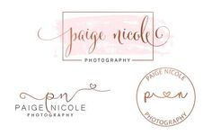 design branding photography watermark logo or signature