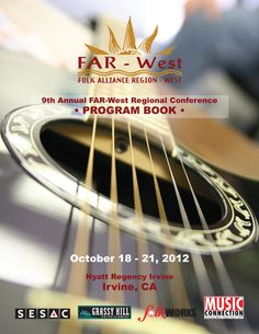 Program Book Cover for the annual FAR-West music conference, October designed by Russell Paris at JRP Graphics.