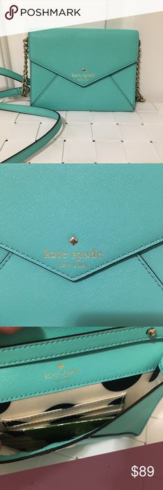 NWOT Kate spade cedar street Monday Crossbody bag Brand new without tags Never used Turquoise color  Beautiful little bag Detachable Crossbody strap kate spade Bags Crossbody Bags