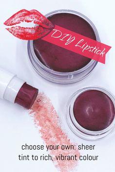 In My Soap Pot DIY Lipstick diy green tea diy ideas diy makeup diy recipes diy teen Homemade Lipstick, Diy Lipstick, Homemade Lip Balm, Diy Lip Balm, Natural Lipstick, Natural Makeup, Natural Beauty, Mac Lipsticks, Lipstick Colors