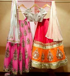 CODE: VMA438 Price: 32,000 INR pink and 22,000 INR red/orange  How to get: You can whats app your queries and price request at 08006050250.. You can send your questions at vamymart@gmail.com #vamymart #designerwears