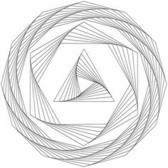 How to draw geometric swirl patterns with templates. - also awesome for embroidery.
