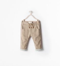 DRAWSTRING TROUSERS WITH LINING