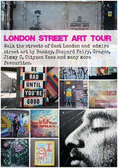Cool london street art tour in Shoreditch, East london. If you're looking for a flat in London, we can help! Street Art London, Best Street Art, London Art, London Life, London Tours, East London, London Travel, Travel Uk, Leeds