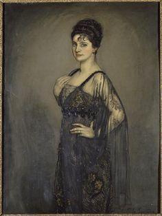Antonio de la Gándara (1862-1917) - Portrait de madame Louis Rosenau, née Hélène Merfeld (1875-1962), Musée des Beaux-Arts de la Ville de Paris
