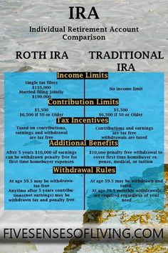 Have you considered early retirement using an IRA? Learn the difference between a ROTH IRA and a Traditional IRA and which one is best for you Retirement Savings Plan, Saving For Retirement, Early Retirement, Retirement Planning, Financial Planning, Retirement Investment, Ira Investment, Retirement Accounts, Financial Assistance