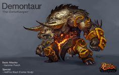 Demontaur- Battle Chasers creature contest by thiago-almeida.deviantart.com on @DeviantArt
