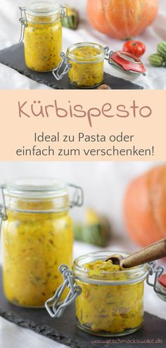 Extend pumpkin time: Homemade pumpkin pesto ⋆ taste cloud - Extend pumpkin time – homemade pumpkin pesto – # Pumpkin pesto # Pumpkin time p - Organic Foundation, Plats Healthy, Chutney, How To Make Cake, Pasta Recipes, Herbalism, Food And Drink, Pumpkin, Dishes