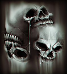 How to Draw a Skull Orb, Step by Step, Skulls, Pop Culture, FREE Online Drawing Tutorial, Added by Dawn, May 30, 2014, 12:00:52 am