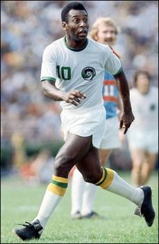 """Pele – called """"the Black Pearl,"""" was the greatest soccer player in the history of the game. With a career total of 1280 goals, he may have been the world's most popular athlete after he was named Athlete of the Century by the world's combined National Olympic Committees in 1999, though he never played in the Olympics himself. In March of 2002, the jersey Pelé wore in the 1970 World Cup final sold at auction for $220,850. Pelé became Brazil's minister of sports in 1995, serving until 1998."""