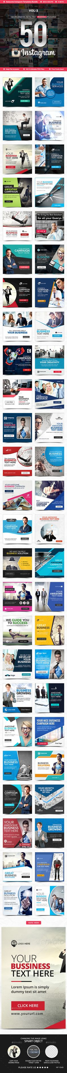 Instagram Banner Ad Template PSD - 50 Design. Download here: http://graphicriver.net/item/instagram-banner-ad-templates-50-designs/16583974?ref=yinkira