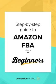 Amazon has been growing exponentially in the last couple of years. Their programs have allowed for easy buying and selling. This guide shows you the steps to use the FBA program for beginners to sell products! #AmazonFBAProducts #AmazonFBAforBeginners #ConversionMinded Make Money On Amazon, Sell On Amazon, Way To Make Money, Make Money Online, Amazon Fba Business, Online Business, Amazon Online, Business Tips, Business Launch