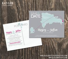 Dominican Republic  Wedding Save the Dates  by katleminvitations, $15.00