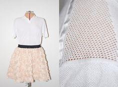Vintage Yves Saint Laurent YSL Designer White Collared Knit Polo Blouse by GazelleStar, $45.00
