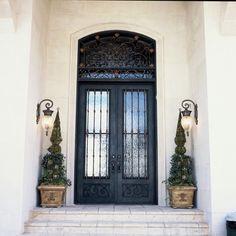 Elegante Iron Front Doors #containers #planters #pottery #pots