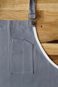 Standard Work Apron: Grey Denim – Winter Session