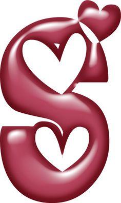 Alfabeto muy grande con corazones. | Oh my Alfabetos!                                                                                                                                                                                 Más
