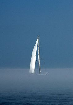 Sail Boat in the Fog by hm-art