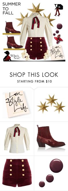 """""""Dress up in velvet"""" by ellenfischerbeauty ❤ liked on Polyvore featuring LumaBase, Gucci, Barneys New York, Pierre Balmain, Topshop, velvet, HowToWear and waystowear"""