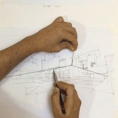 Drawing Architectural Using a simple string and hook to create dynamic perspective guidelines for drawing. - Using a simple string and hook to create dynamic perspective guidelines for drawing. Drawing Sketches, Art Drawings, Sketching, Drawing Lips, Drawing Art, Illustration, Drawing Techniques, Art Tips, Art Tutorials