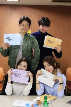 'Uncontrollably Fond' script reading, Kim Woo-bin and Suzy show off first class chemistry @ HanCinema :: The Korean Movie and Drama Database Korean Actresses, Korean Actors, Korean Dramas, Live Action, Do You Like Messi, Uncontrollably Fond Kdrama, Suzy Drama, Lim Ju Hwan, Korean Drama Stars