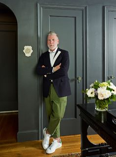 Nick Wooster in his West Village home. Source: SCENE MagazineClick here for more menswear inspiration