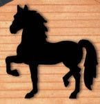 Strutting Horse Shadow Woodcraft Pattern Everyone will admire this strutting horse silhouette when you display it in your yard or on a building! #diy #woodcraftpatterns