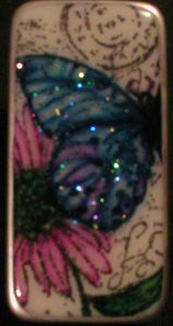 Blue Butterfly and Pink Daisy Pin by Heidi Blankenship - Cards and Paper Crafts at Splitcoaststampers