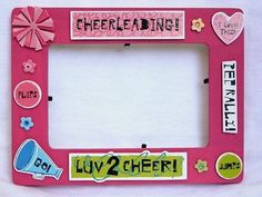 Girls Cheerleading Picture Photo Frame pink 4x6 gift. $19.00, via Etsy.