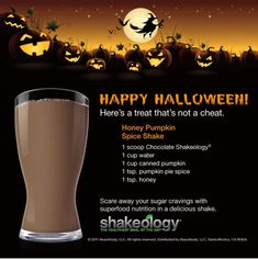 Looking for a healthy alternative to those fall pumpkin cravings? Here is a great pumpkin shakeology recipe. Contact me at SHAKEOLOGY.COM/AMYFERGEN for more info! Shakeology Shakes, Beachbody Shakeology, Greenberry Shakeology, Buy Shakeology, Healthy Meal Replacement Shakes, Healthy Shakes, Vegan Shakes, Diet Shakes, Halloween Camping