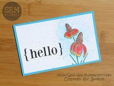 Pretty colored handmade card.