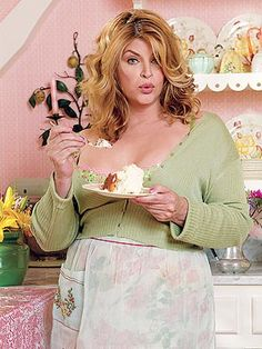 Kirstie Alley's Oceanfront Cottage For Sale on Maine Island--love the pink and green girly decor!