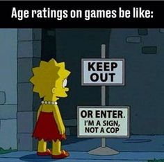 PEGI 18 or really whatever because nobody checks ANYWAY!  Video Game Meme, Gaming Meme, Funny Gaming