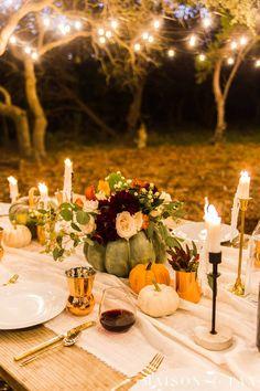 Outdoor Friendsgiving Table Decorating Ideas - Maison de Pax