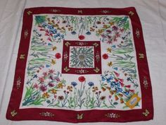 VTG-60s-70s-Gucci-034-Floral-Flora-034-Butterfly-Silk-33-034-Scarf-Signed-V-Accornero
