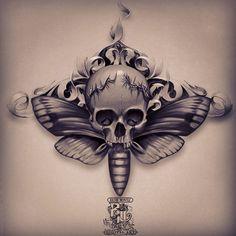 Resultado de imagem para moth tattoo