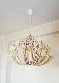 Regenerated lotus Scandinave de style en bois par brainedition