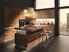 Kücheninsel K7 Holz: Nussbaum natur geölt