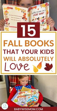 15 fall books that your kids will absolutely love. These picture book about autumn are great for your kiddos. These are great for preschoolers, toddlers, and children. #booksforkids #booklist #fallbooklist #picturebooks #fallpreschoolbooks #autumnbooks