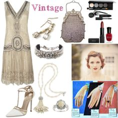 A vintage entry in the Grammy Winner fashion mission with fun flapper dress and great vintage accessories