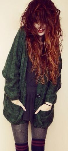 Messy curly Hair!