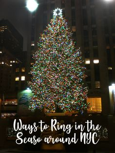 When in NYC for Christmas, be sure that visiting the Rockefeller Center Christmas Tree is on your list of must do's!