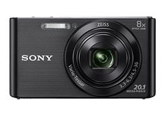 Sony Cyber-shot DSC-W830/BC Point & Shoot Camera 20.1 MP,Sensor Type CCD,LCD Size 2.7 lowest price in India on February 2017 | On Paisaone