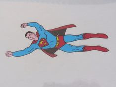 SUPERMAN Production Cel – From 1960's FILMATION Series!  Great historical piece!