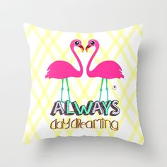 always daydreaming Throw Pillow by iso.  - $20.00