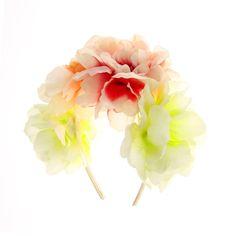 Guirlande ornée de grandes fleurs pastel fluo, Fleurs, Boutique vacances, tous, Tendances, Inspiration..., Cheveux, Serre-tête, Nouveautés, ...