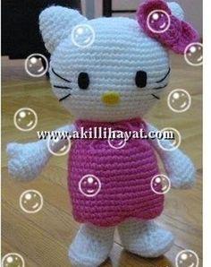 Amigurumi Örgü Oyuncak Tekniğiyle Yapılmış Hello Kitty Modeli Yapılışı (anlatımlı) – Örgü, Örgü Modelleri, Örgü Örnekleri, Derya Baykal Örgüleri