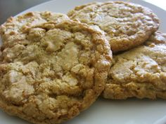 butter toffee cookies -- copycat recipe of Mrs Field's discontinued toffee cookies. [] anchovylove 1 2 try! Cookie Recipes From Scratch, Delicious Cookie Recipes, Yummy Cookies, Baking Recipes, Dessert Recipes, Dessert Dips, Bar Recipes, Fruit Recipes, Baking Ideas