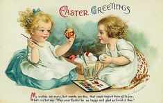 Cute vintage Easter greetings! #vintage #Easter #cards